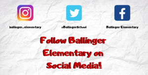 Follow Ballinger Elementary on Social Media