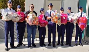 Beaumont High School Cadets Holding baskets