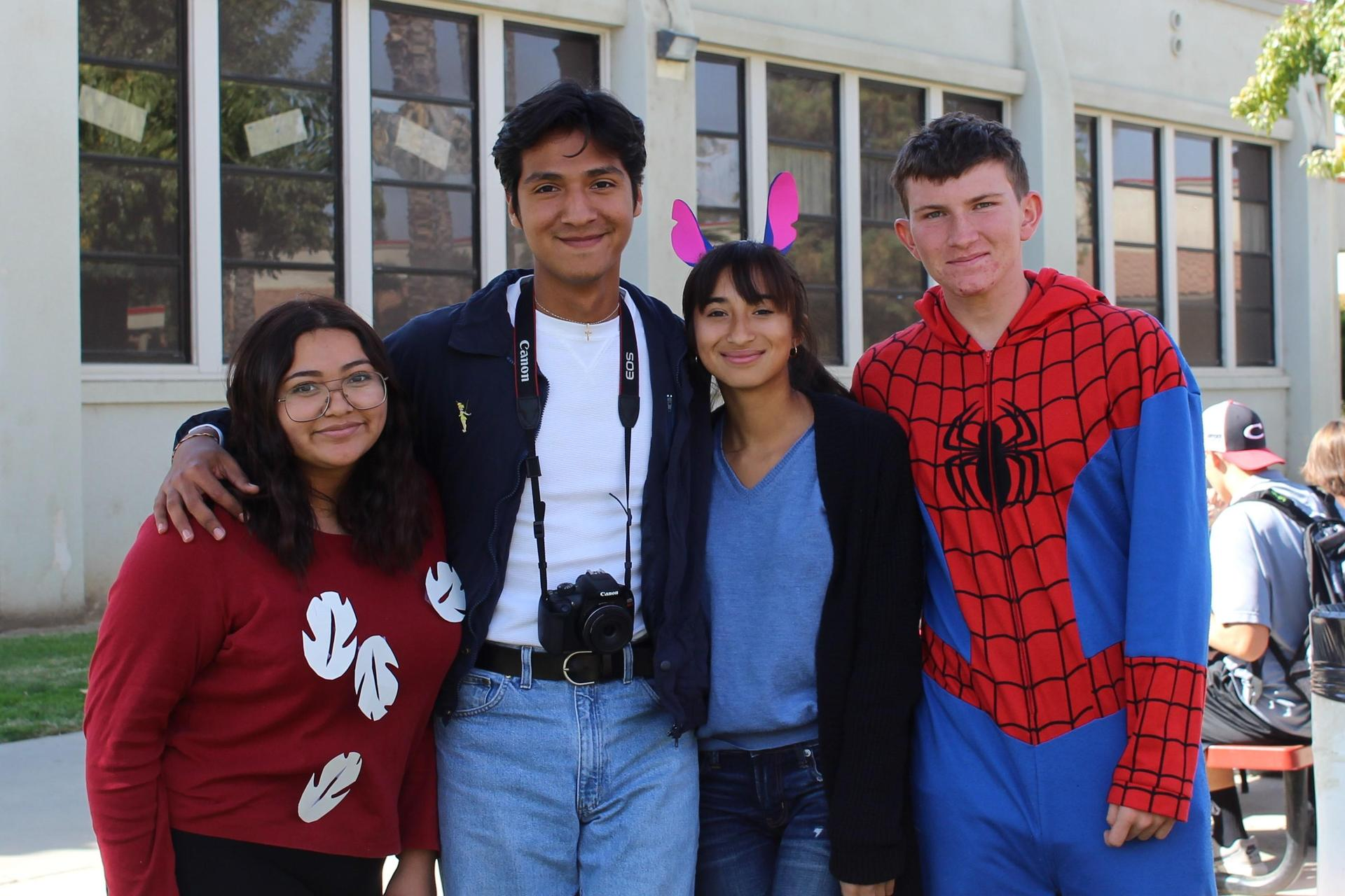 Naomi Hernandez as Lilo, Luis Guevara, Sabrina Davila as Stitch, Evan Sotelo as Spiderman