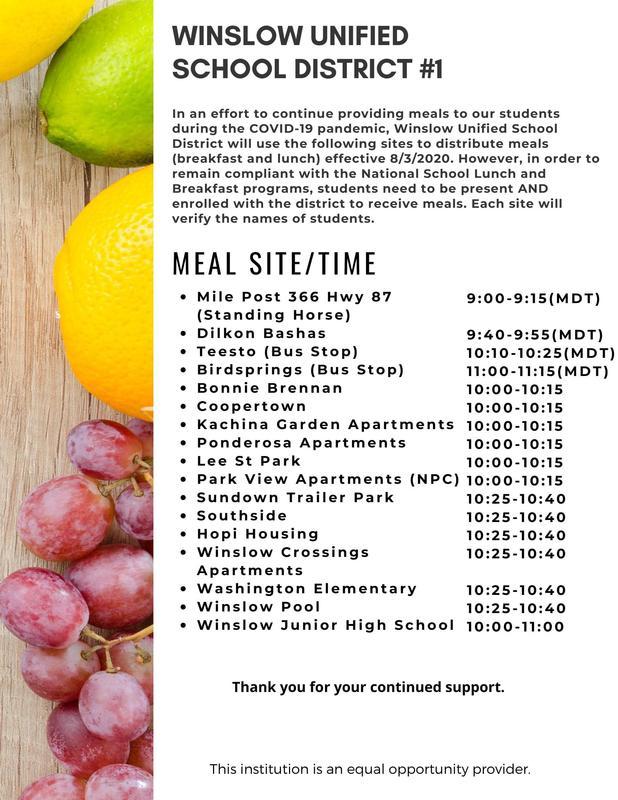 School Lunch Information Featured Photo
