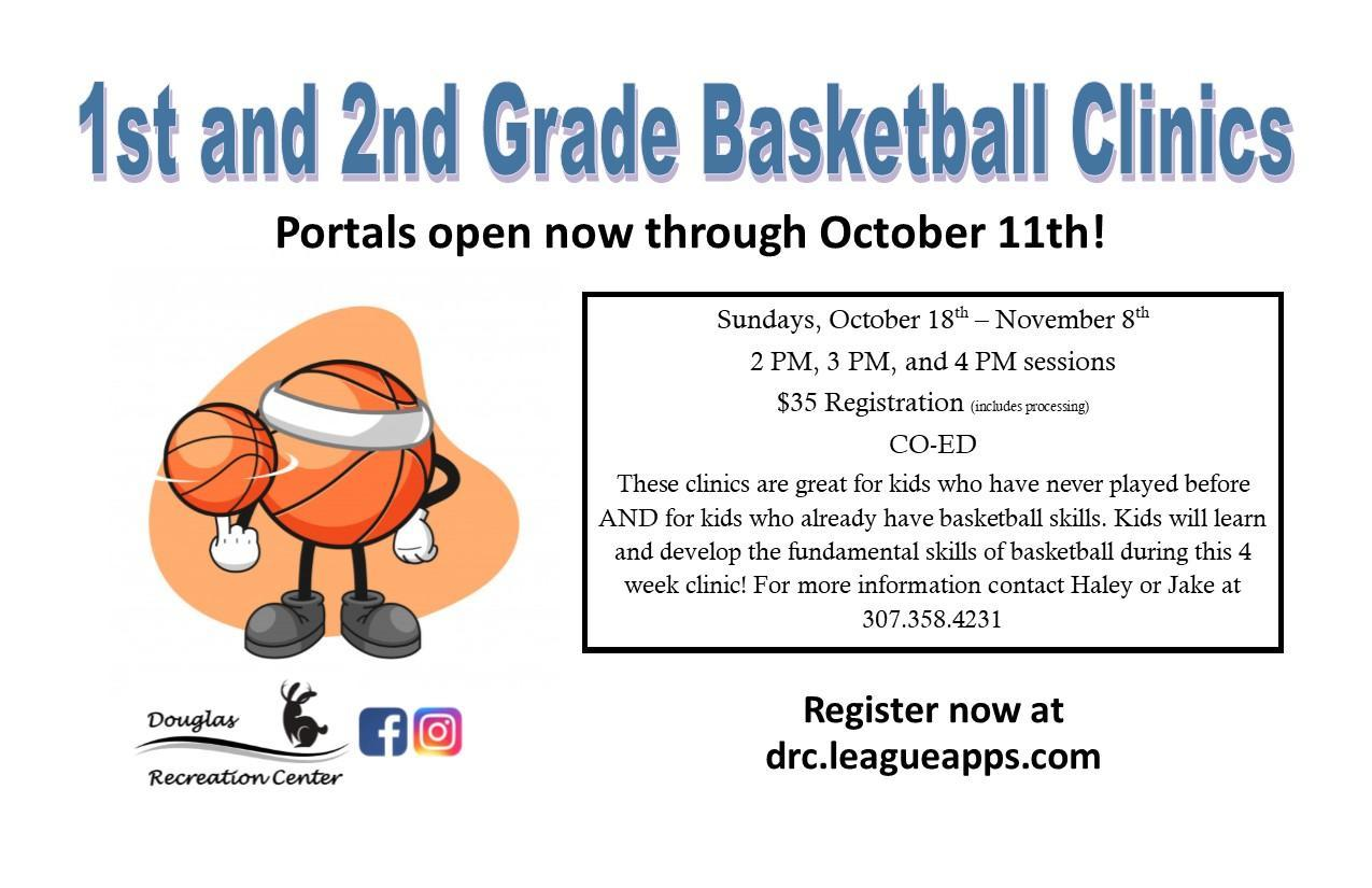 1st and 2nd Grade Basketball Clincis