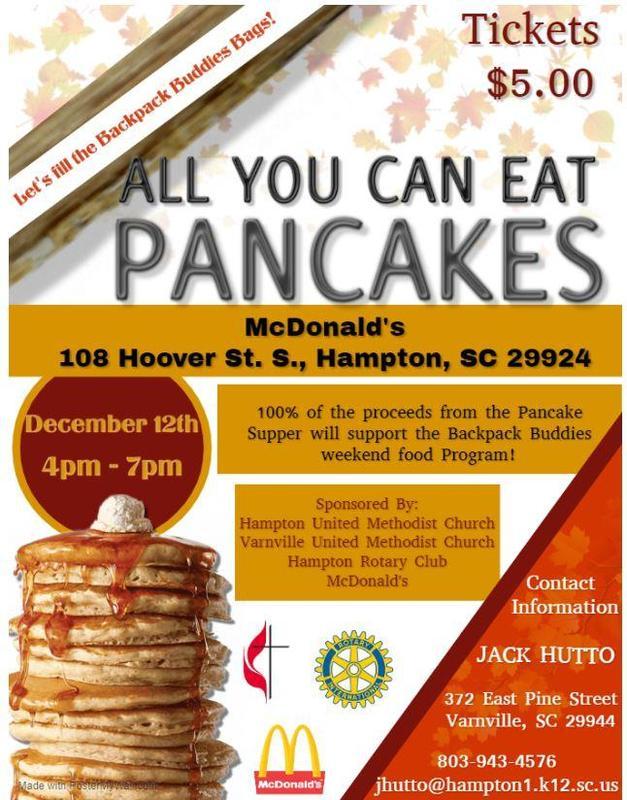 Backpack Buddies - Pancake Supper Fundraiser