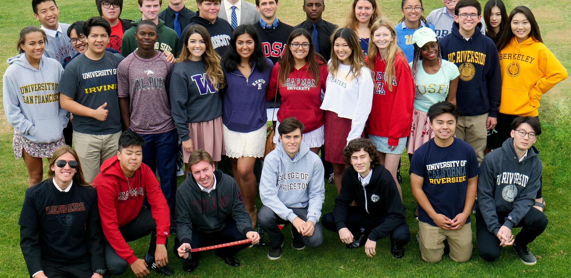 Senior College Photo from 2018