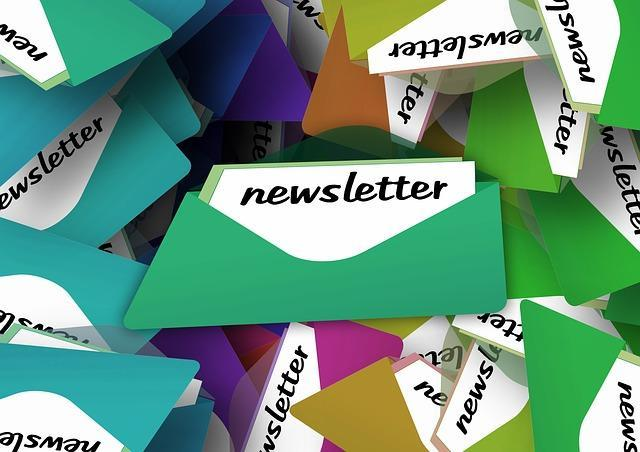Newsletters in envelopes
