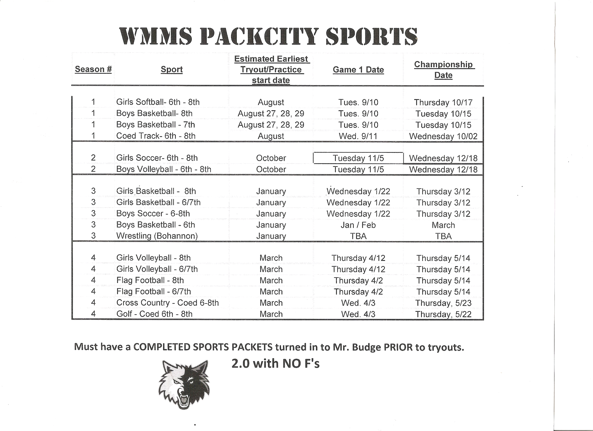 WMMS Pack City Sports