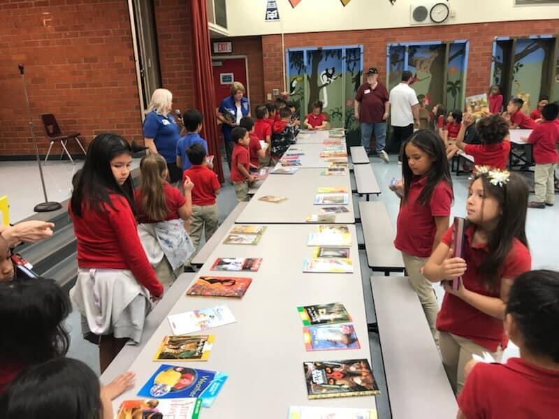 The Pomona Lions Club donated books