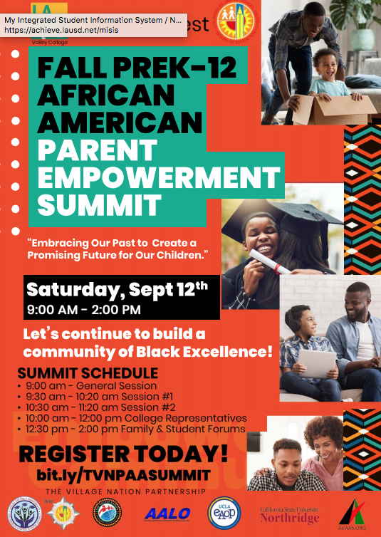 Fall PreK-12 African American Parent Empowerment Summit Featured Photo
