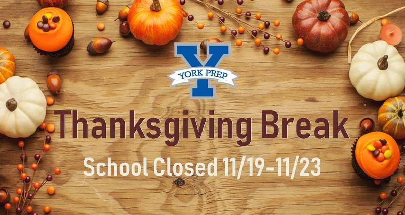 York Prep Closed for Thanksgiving Break 11/19-11/23 Featured Photo