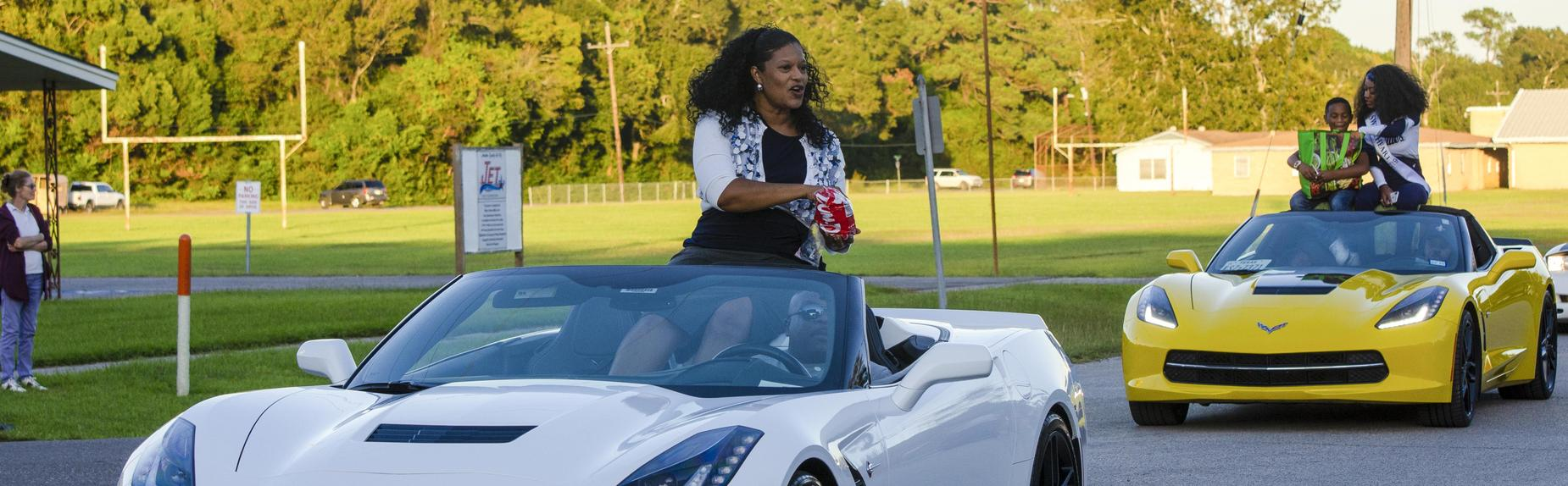 Mrs. Holifield in Homecoming Parade