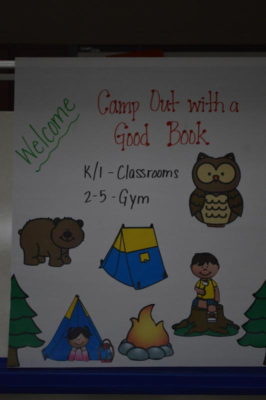 Welcome sign at Camp-out.