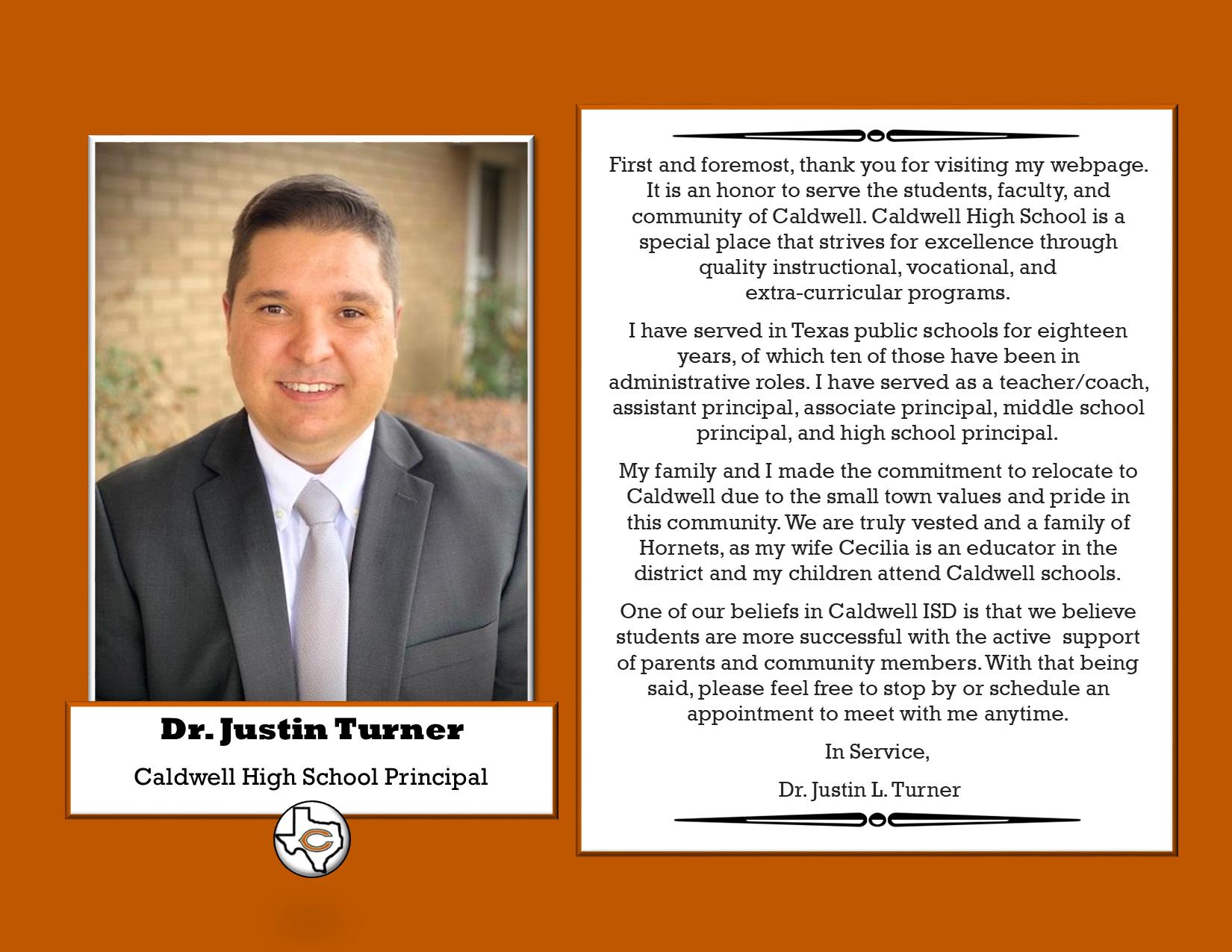 Dr. Turner's Message