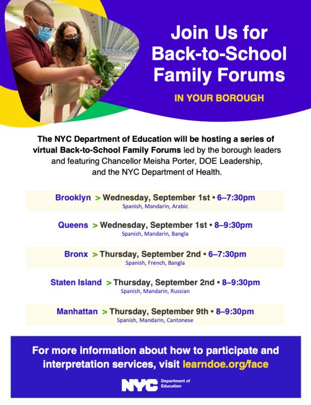 Back-to-School Forum