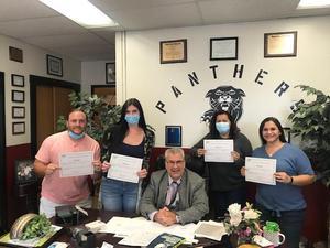 second group photo of tenured teachers