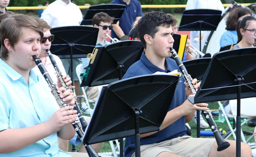 Photo of members of WHS band/orchestra performing.