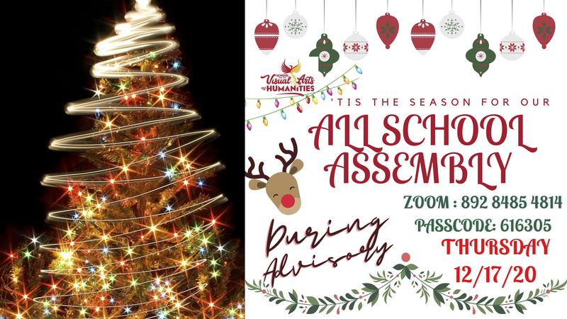 Thursday, December 17, All School Assembly Information Featured Photo