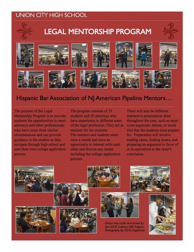 Legal mentorship program flyer