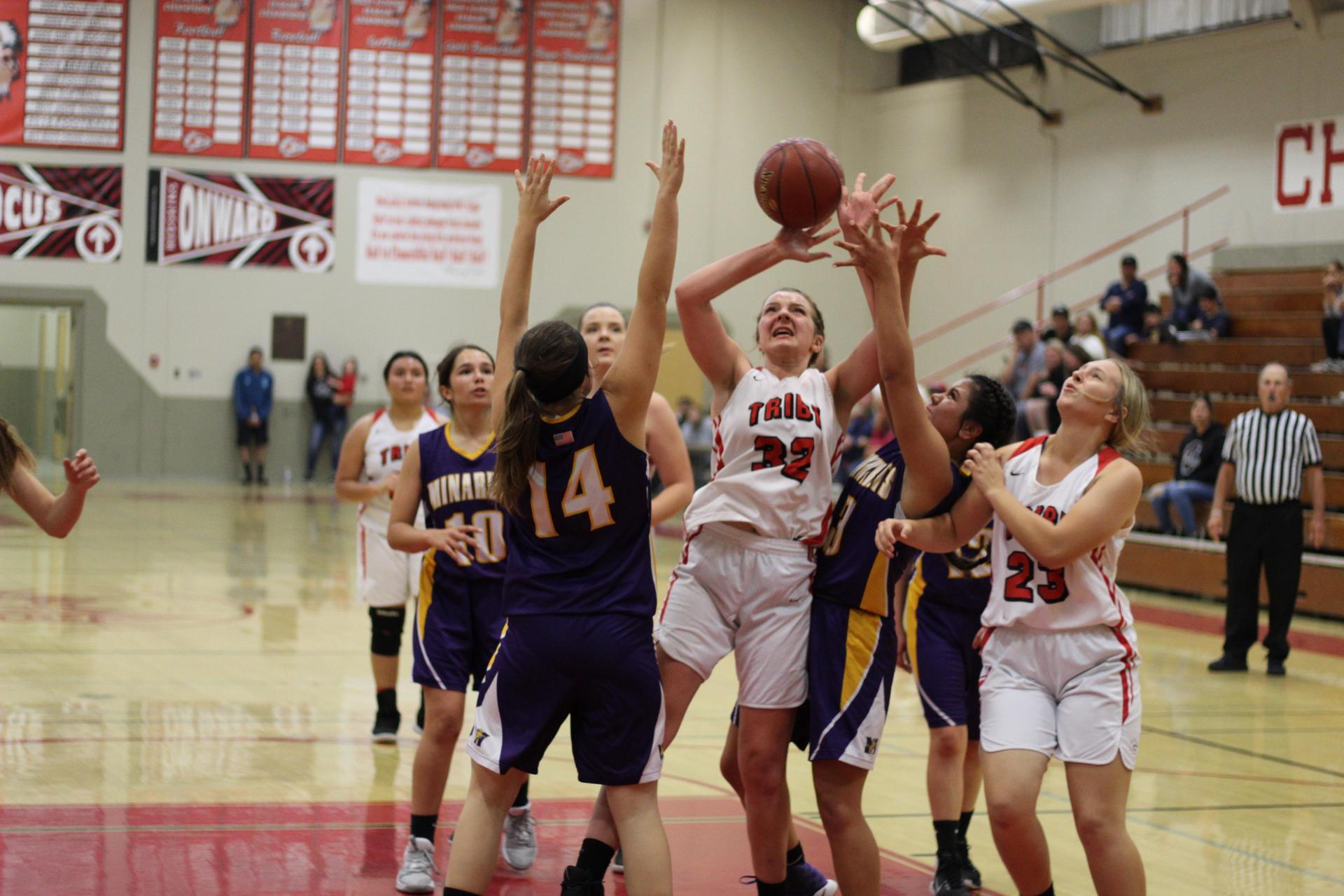 Hannah Stockton shooting the ball