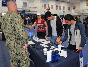 Baldwin Park High School students receive advice and information from a multitude of college recruiters and potential employers during the school's annual College and Career Fair.