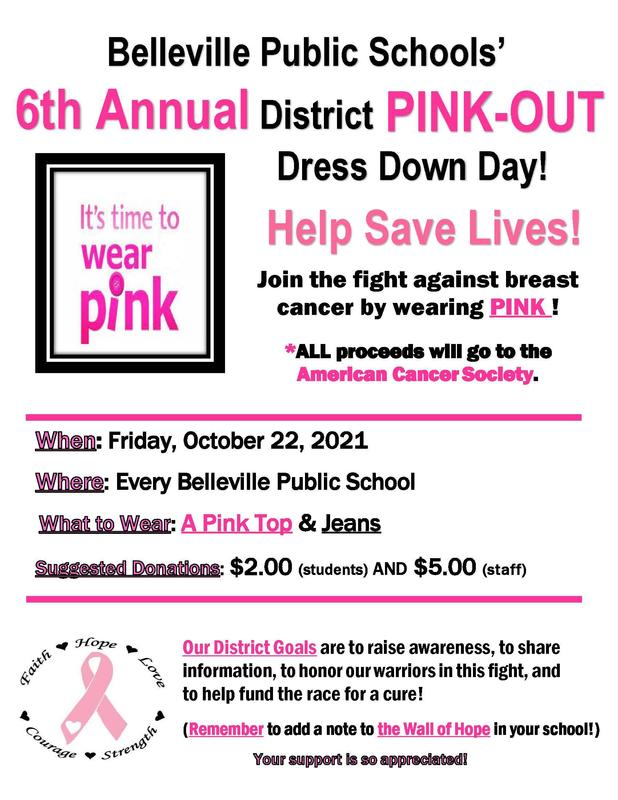 District Pink Out Dress Down Day 10/22/21! Featured Photo