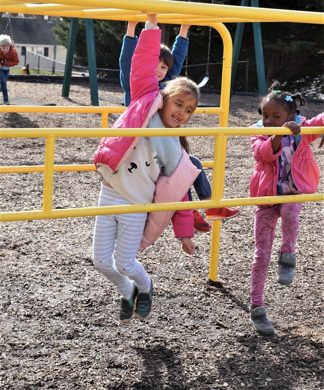Children playing on playground
