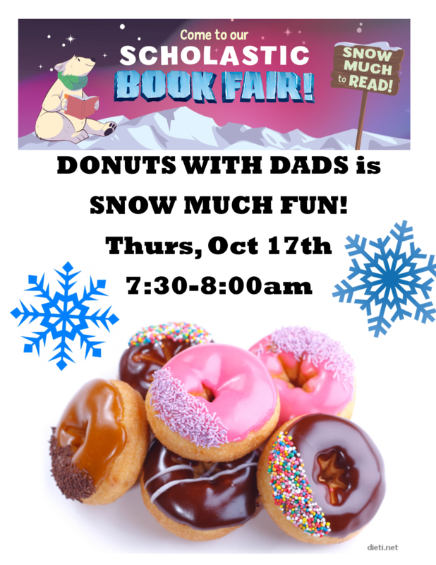 Flyer for Donuts with Dad on Thursday 10/17