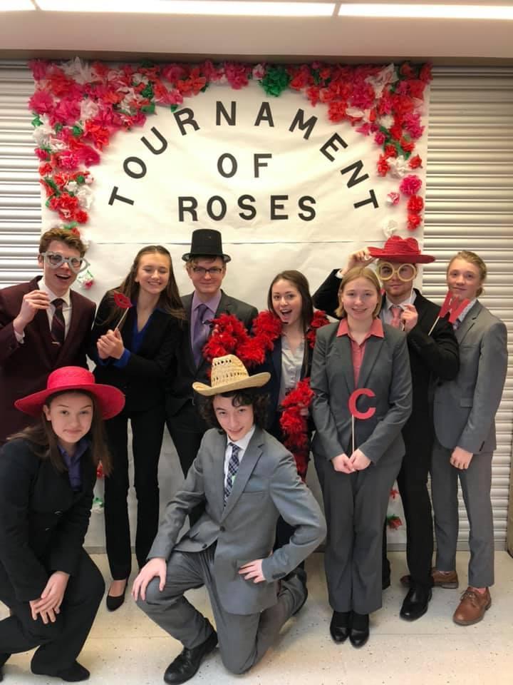 Tournament of Roses speech competitors.