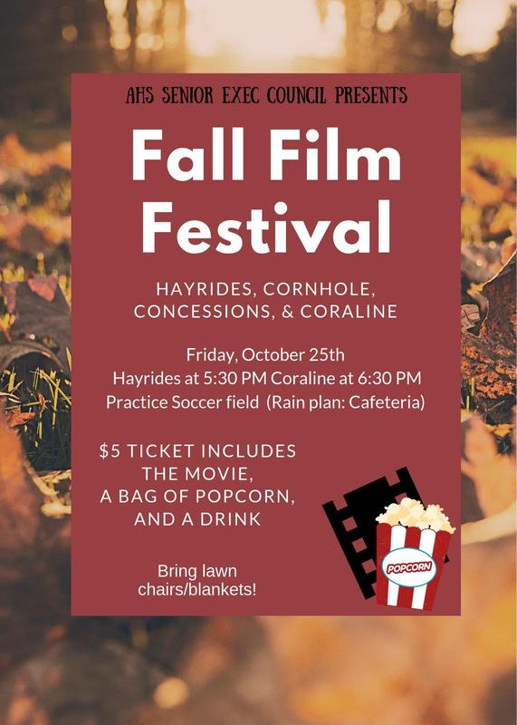 AHS Senior Exec presents- The 2019 Fall Film Festival! Thumbnail Image