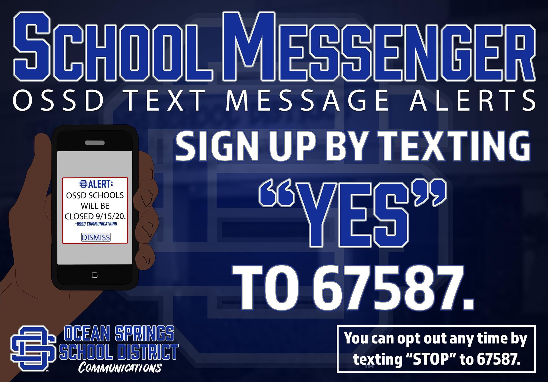 Text message sign up