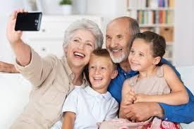Image of grandparents with grandchildren
