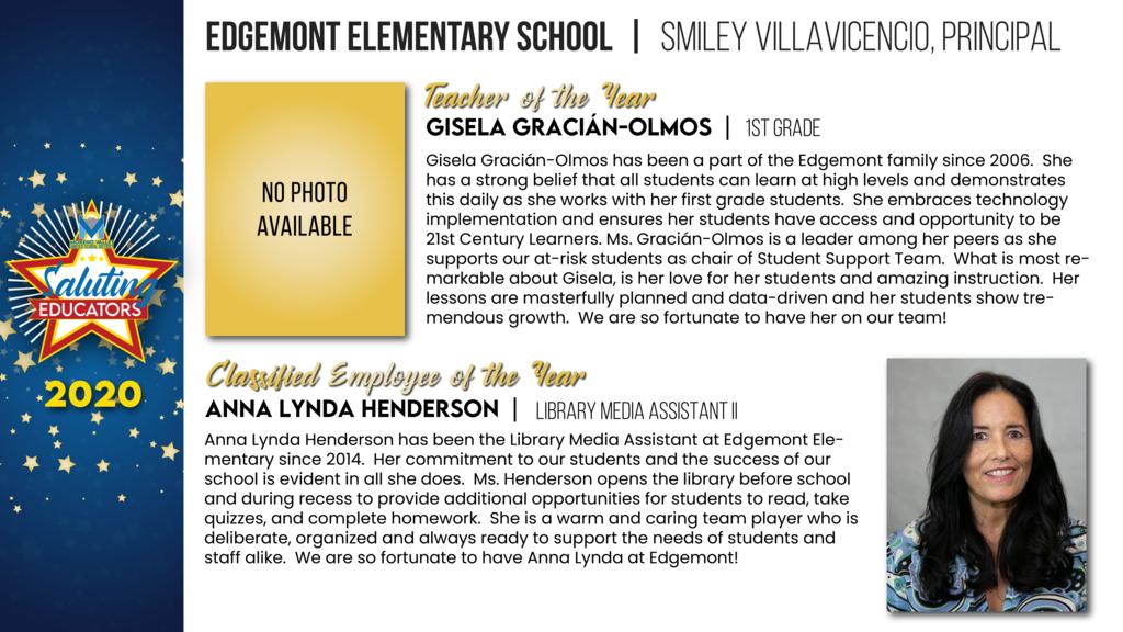 Edgemont Elementary Employees of the Year