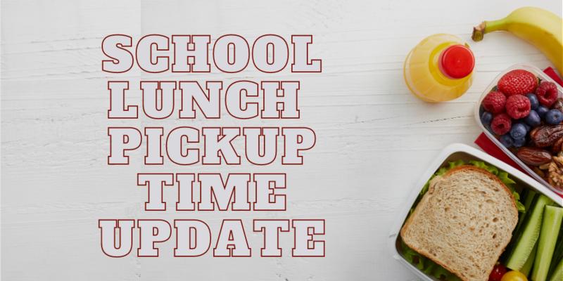 school lunch pick up