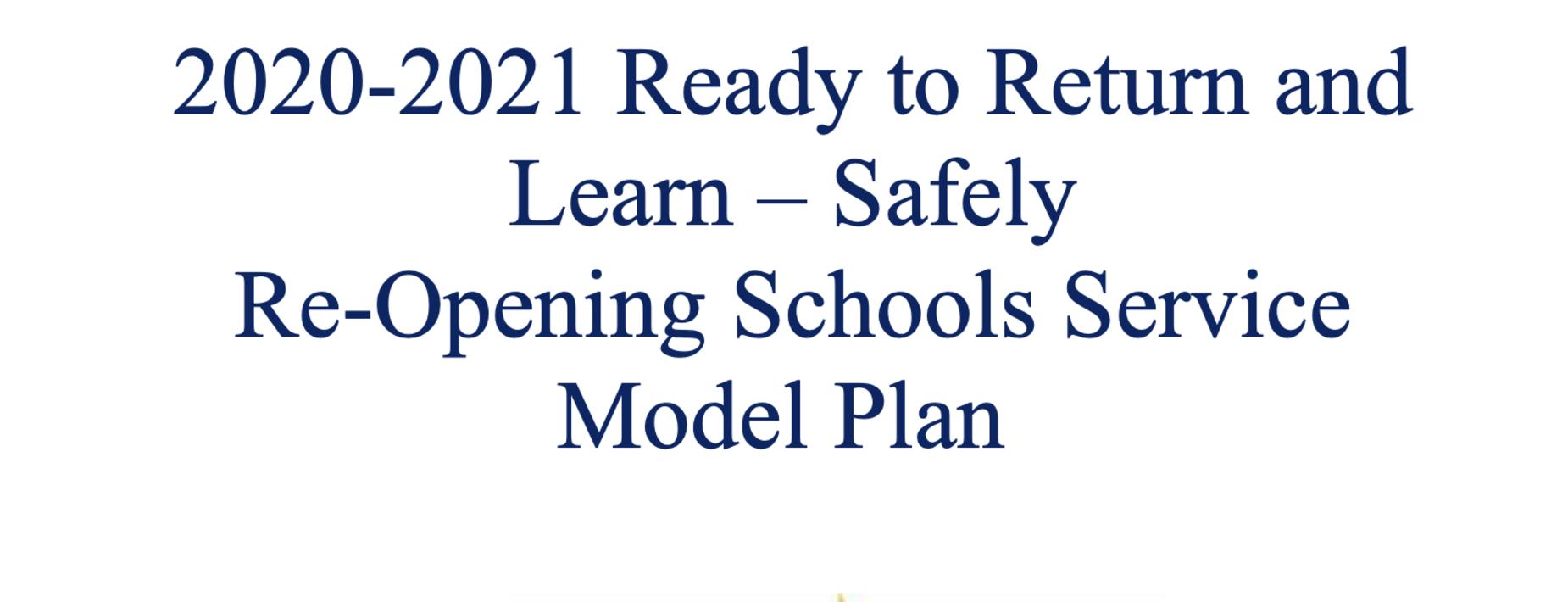 Re-opening schools plan