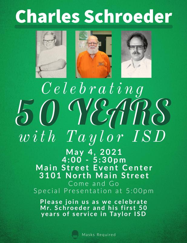 Invitation to reception for 50 years of service.