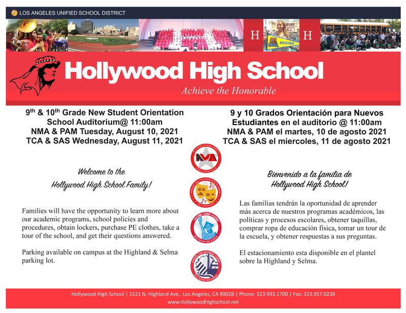 9th & 10th Grade New Student Orientation @ 11am-1pm (School Auditorium) Featured Photo