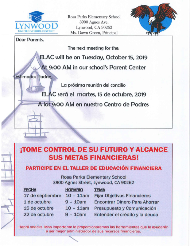 ELAC and Financial Literacy Featured Photo