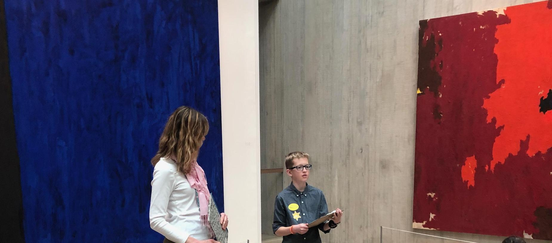GVA-DC Student Giving Spanish Presentation at Clyfford Still Museum Tour