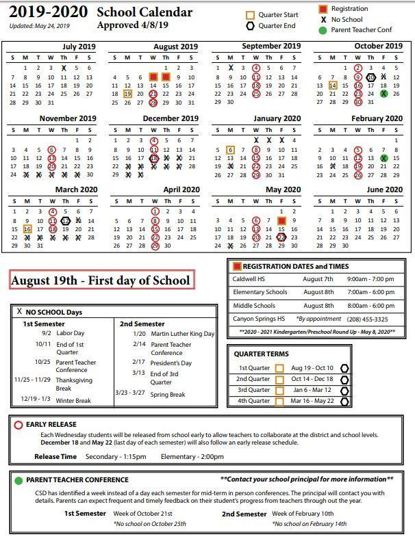 District Calendar Clipart