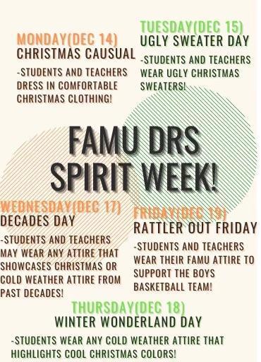 December 2020 Spirit Week