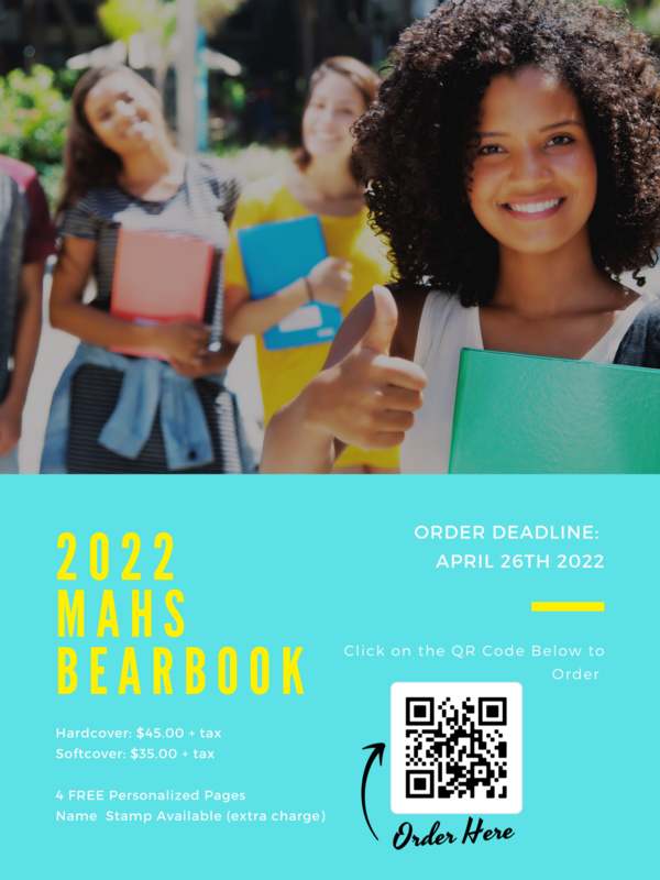 MAHS 2022 Yearbooks are on sale now! Featured Photo