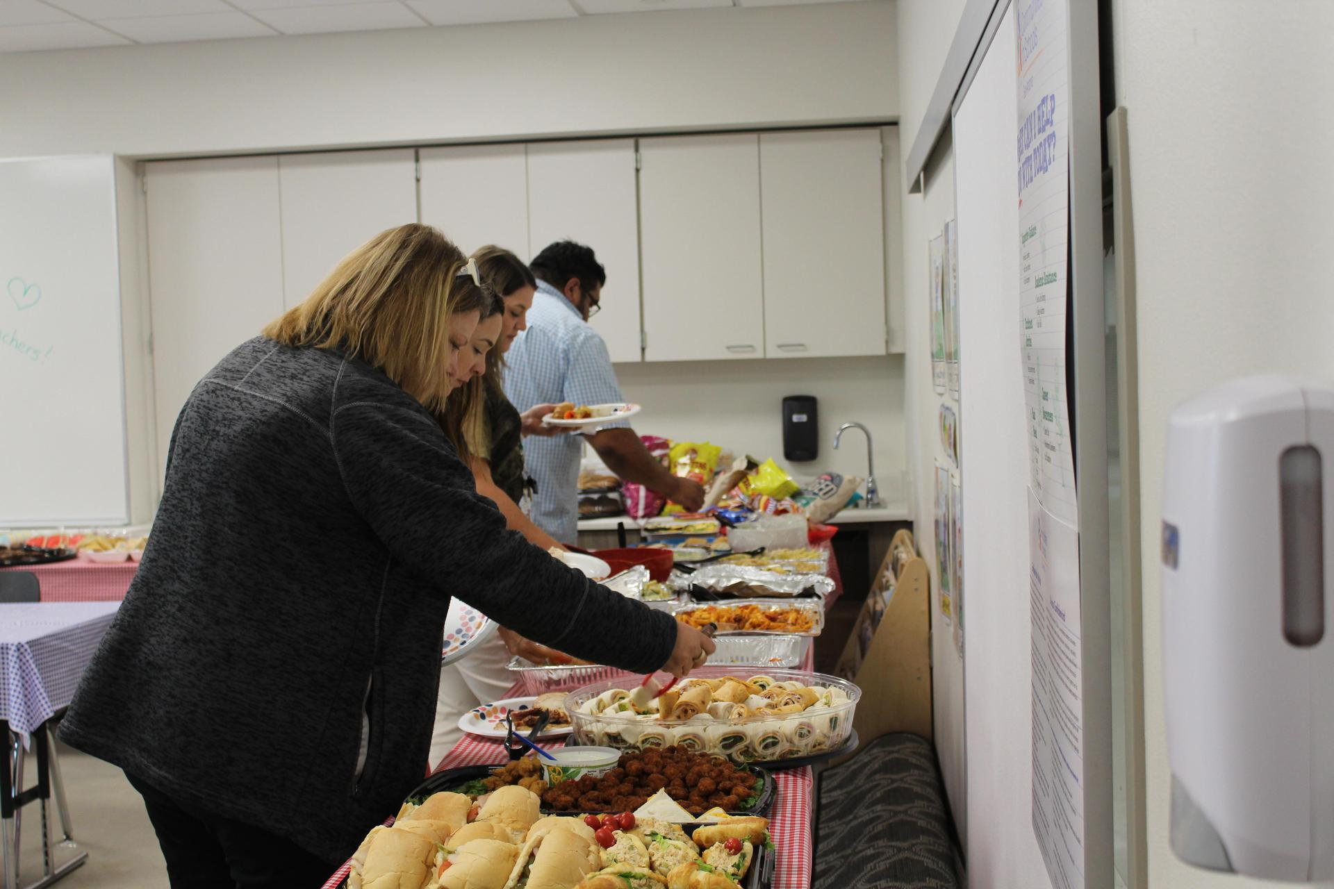 Teachers getting lunch