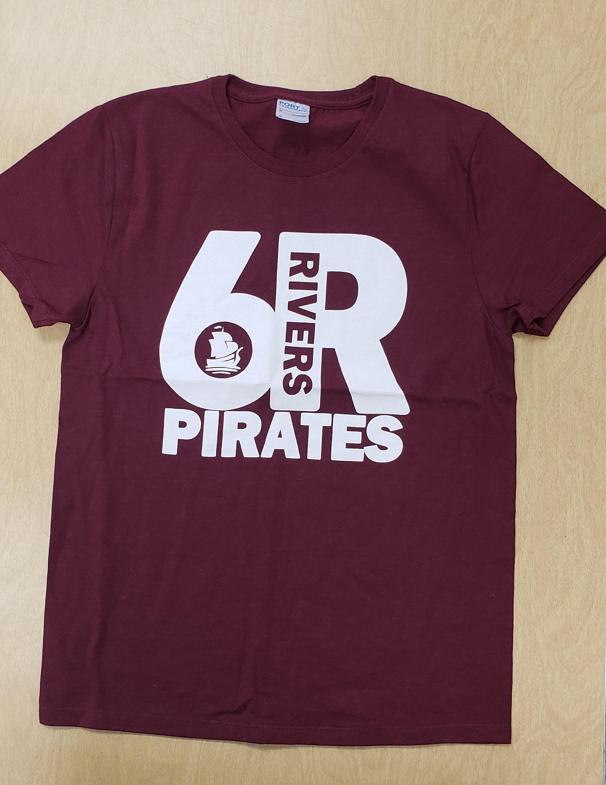 Maroon Shirt, White Logo - Women's Small - Front Side