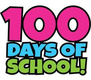 colorful text: 100 Days of School!