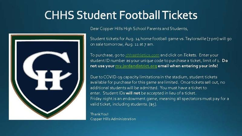 Student Football Tickets