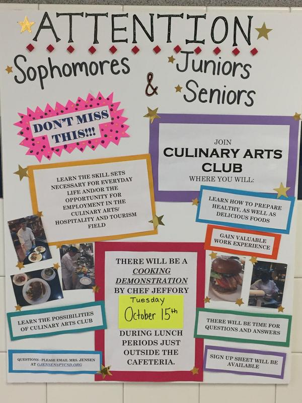 Culinary Arts Club: Sophomores, Jr's & SR's Featured Photo