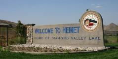 Welcome to Hemet sign