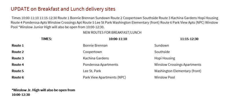 Updated Breakfast/Lunch Delivery Sites Featured Photo