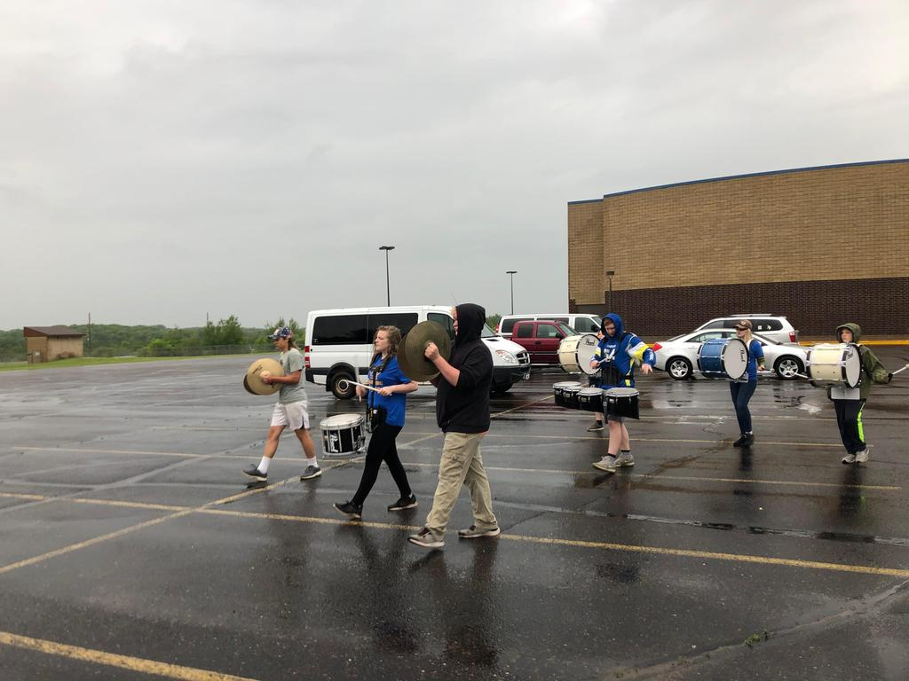 Marching in the rain