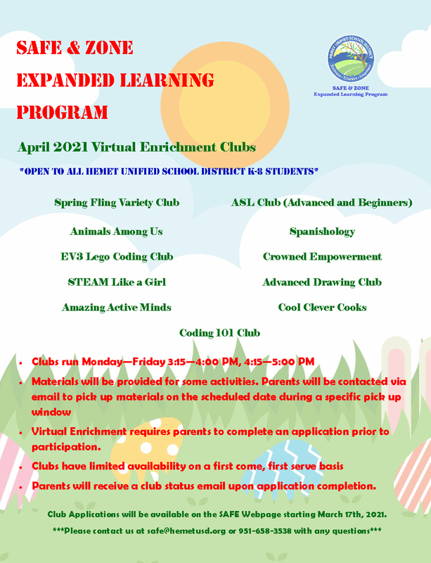 April Enrichment