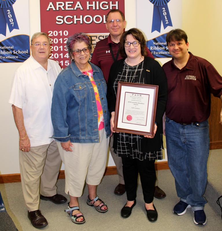 AAHS Instructor Receives Lauretta Woodson Award Thumbnail Image