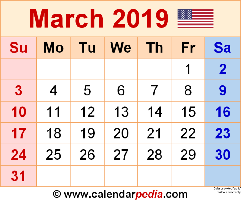 March Calendar of Events Featured Photo